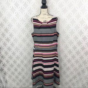 ELLE Celine Striped A-Line Dress